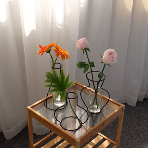 wire flame vase 8type / ワイヤーフレームベース 花瓶 韓国 北欧