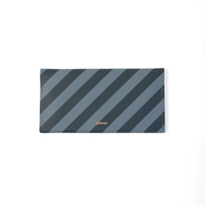 planar -Wallet L Grey and Black Stripes