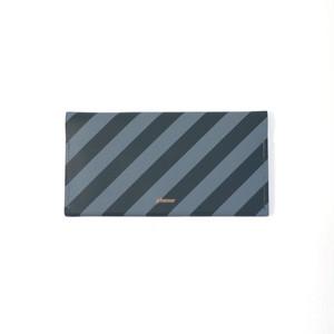 planar -Wallet L Grey and Black Stripes