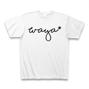 米澤商店オリジナルTシャツ「黒筆記体WAYA」