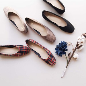 Square toe Vcut Flat Shoes