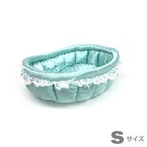 ふーじこちゃんママ手作り ぽんぽんベッド (サテンミント) Sサイズ 【CBPM01-0082S】