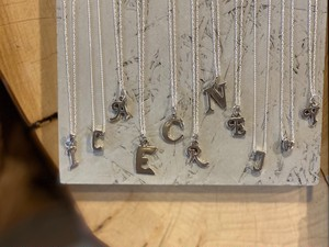 〈vintage silver925〉initial letter necklace②