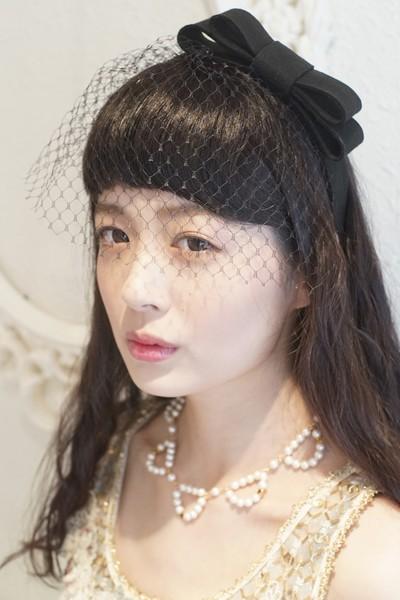 特別な日はもちろん、普段使いにも。チュールが華やかなmarie hannahのヘッドドレス