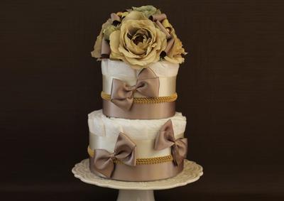 こんな綺麗なおむつケーキ見たことない……!頑張ったママに贈る「Ange」のオリジナルダイパーケーキ♡