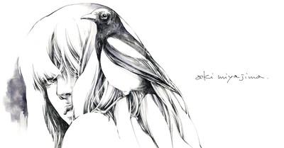 冷静?情熱?さまざまなコラボレーションをすべて自分の世界観に引き込む 宮島亜希 さんのイラストが繊細で美しい。