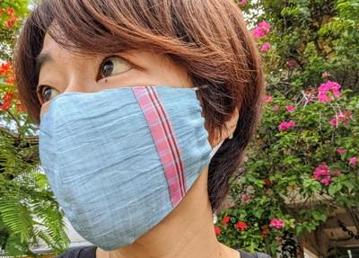 """""""沖縄""""をさりげなく感じられる、絹×麻×綿の「うらそえ織りマスク」"""