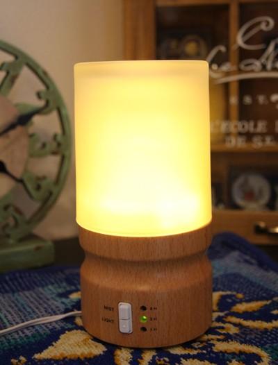 シンプルで使いやすい♪タイマー&LEDライト付★アロマランプ