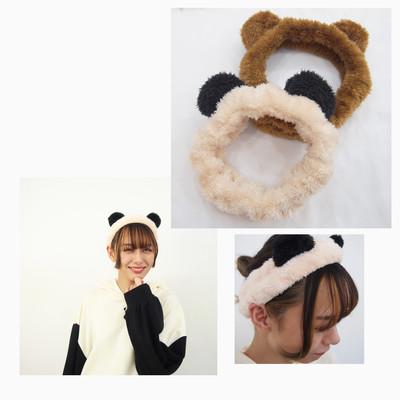 始まりました✨《①くま耳🐻②うさ耳🐰 ③パンダ耳🐼選べるヘアバンドプレゼントフェア♪》