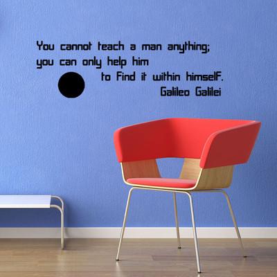 模様替えをお手伝いさせていただきます イタリアの物理学者 ガリレオ・ガリレイの壁ステッカー