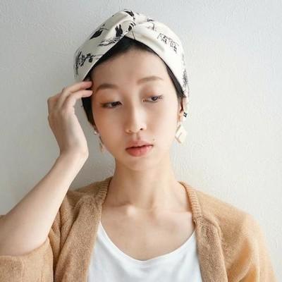 【KINARIYA】夏の日差しに映える生成り色のヘアバンド