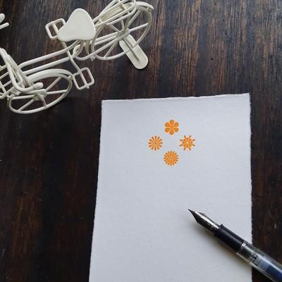 和紙+活版印刷のやさしいポストカード
