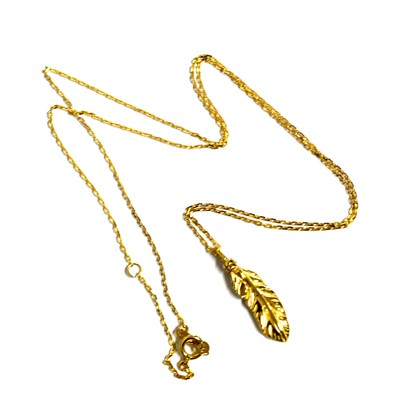 【NEW ARRIVAL】K18Gold Feather Necklace