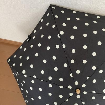 雨の日も晴れの日も心がホワンと軽くなる可愛い水玉模様の折りたたみ傘