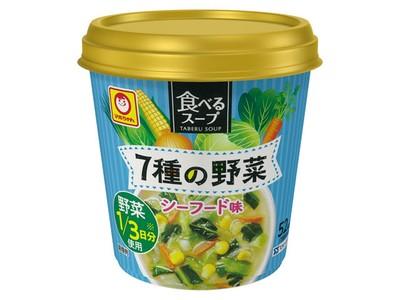 マルちゃん 食べるスープ 7種野菜スープ シーフード味 15g x6 *