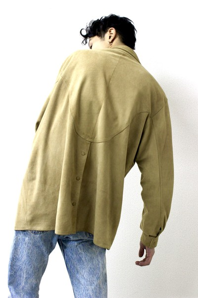 nubuck leather shirt from Europe