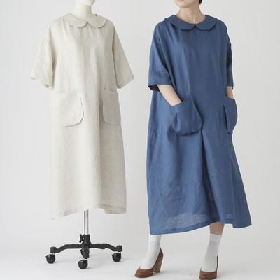 ラウンドカラーワンピを作る。愛着の持てるオンリーワンの服を手作りするための型紙