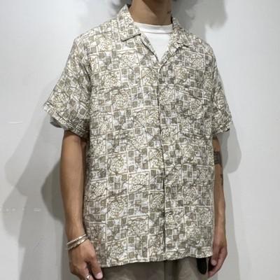 "60s "" jockey "" cotton open collar s/s shirts"