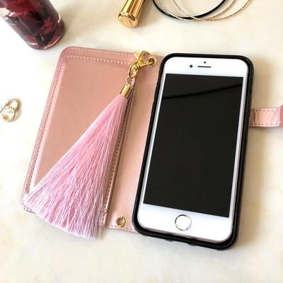 春夏限定のお得な2点セット♡大人可愛い手帳型iphoneケース&上品なシルクタッセル(*´ω`*)
