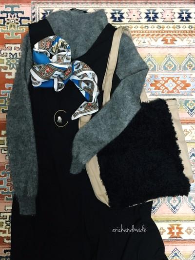 BASEで見つける冬のコーデ♡erichandmadeのトートバッグで気軽にファーを取り入れる♡