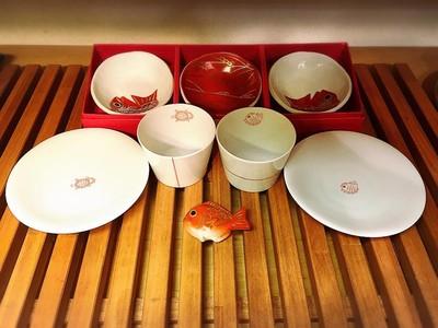 モダンでかわいい鯛の食器シリーズ!お正月にいかがでしょうか。