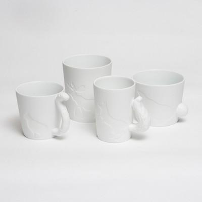 可愛い動物シルエットのマグカップ☆