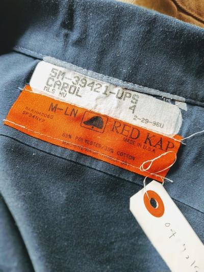 1970s-80s USA REDKAP UPS Patch L/S Work Shirt M