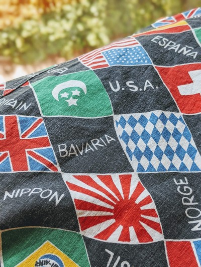 1960S-70S WORLD NATIONAL FLAG PRINT S/S SHIRT