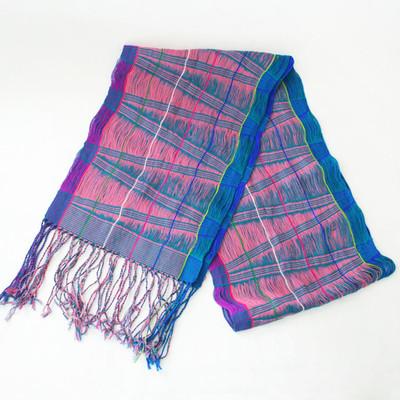 春のおでかけ気分♪ミャンマーの小さな村で織られた手織りストール