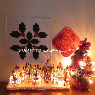 クリスマスだけじゃ、もったいない!ハワイアンキルトで作るタペストリー。普段使いで楽しんでほしい♡