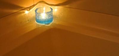 お風呂で癒しの灯火