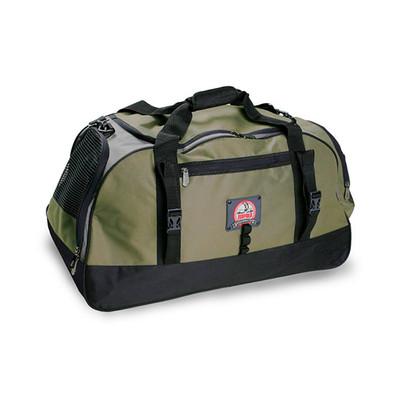 荷物の整理に便利なポケットが付いた「ダッフル バッグ」