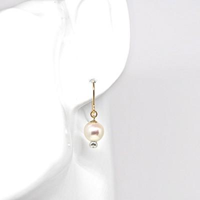 こんな真珠見たことがありますか?珍しくて可愛い人魚みたいな形の真珠のピアス