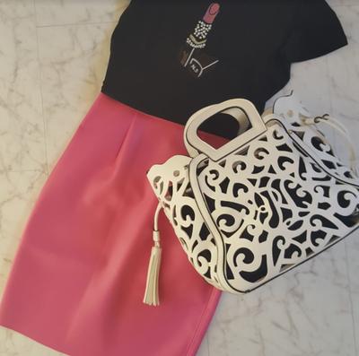 フェイクレザー×春カラーで今すぐ使えるタイトスカート