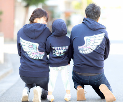 Future Wing!おそろい親子リンクコーデジップアップパーカー