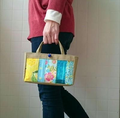 クリスマスギフトに貰ってうれしいパッチワークのプチバッグ!