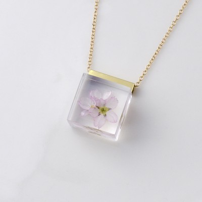 平成最後の桜で作ったネックレス
