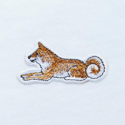 柴犬の刺繍ワッペンが秀逸! 忠犬のごとき佇まいに愛着がわくこと間違いなし!