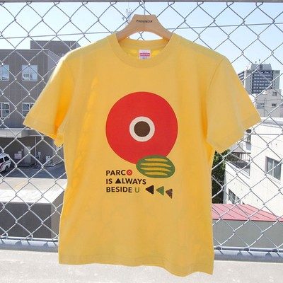 PARCO IS ALWAYS BESIDE U!永田大DESIGN のPARCO Tシャツ