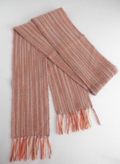 手織りのミニマフラー(10㎝幅)
