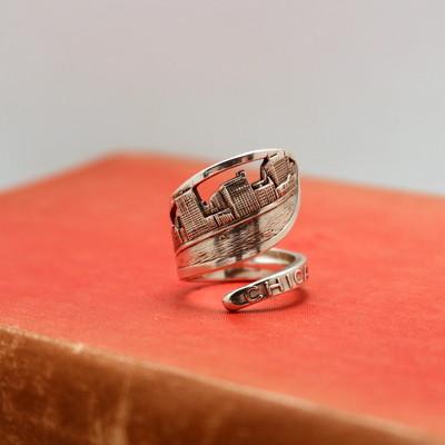 ヴィンテージのシルバースプーンから指輪を作りました