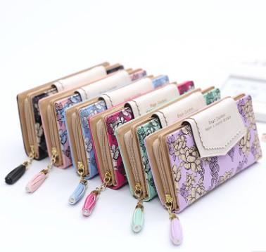 春夏にぴったり!トレンドをおさえた気分の上がるおしゃれカラーの花柄長財布。全6色!