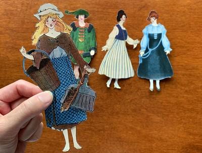 アンティークな紙人形で、毎日を楽しくしよう!
