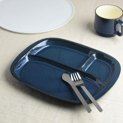 「こだわりの一皿」のための北欧ブルー ランチプレート[美濃焼]