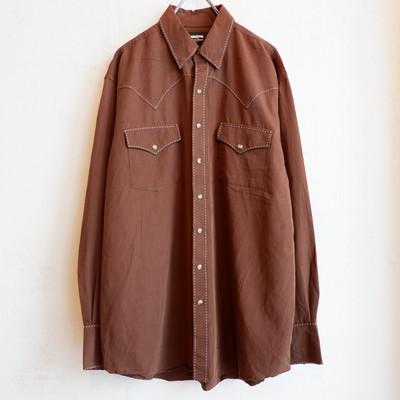 USA古着 rayon western shirts