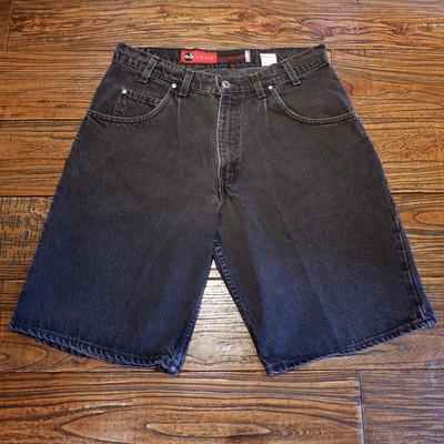 90s USA製 levi's silvertab black denim shorts