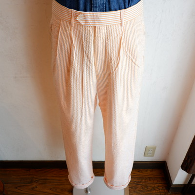 USA古着 seersucker stripe slacks