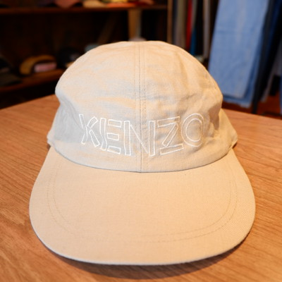 KENZO linen logo cap