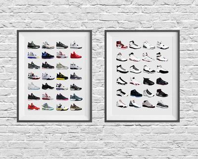 【Sneaker Poster スニーカーポスター】スニーカー好き必見のお洒落なインテリアアイテム!