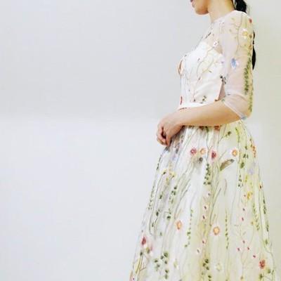 ラブリー&フェアリーで大人気♡フラワー刺繍のドレスワンピース